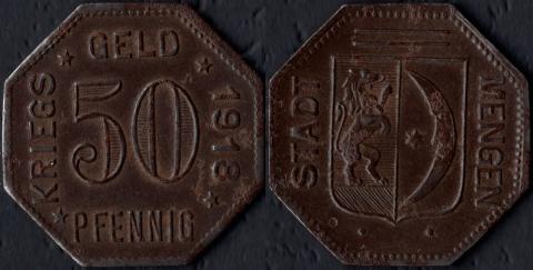 Менген 50 пфеннигов 1918 (железо)