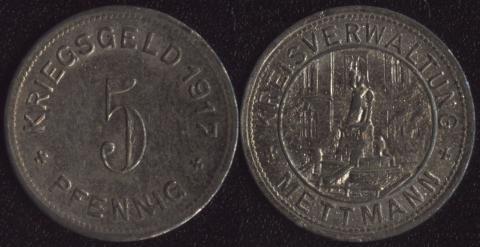 Меттманн 5 пфеннигов 1917