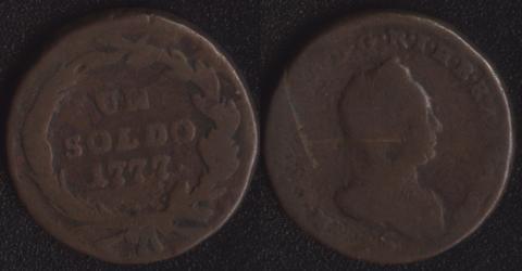Австрийский Милан 1 сольдо 1777