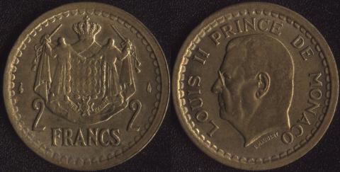 Монако 2 франка 1945