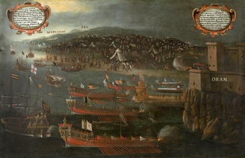 Висент Местре. Высадка морисков в порту Оран, 1613 год