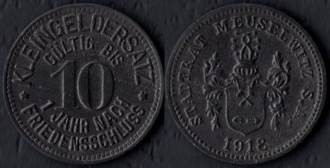 Мойзельвитц 10 пфеннигов 1918