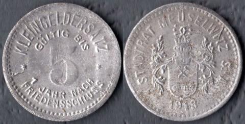 Мойзельвитц 5 пфеннигов 1918