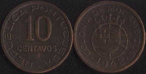 Мозамбик 10 сентаво 1942
