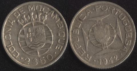 Мозамбик 2.5 сентаво 1942