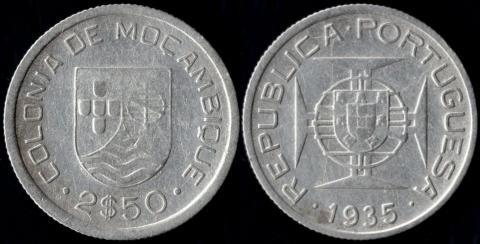 Мозамбик 2,5 эскудо 1935