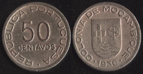 Мозамбик 50 сентаво 1936