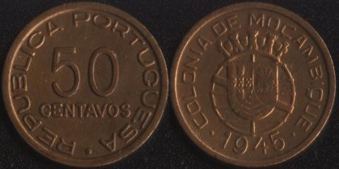 Мозамбик 50 сентаво 1945