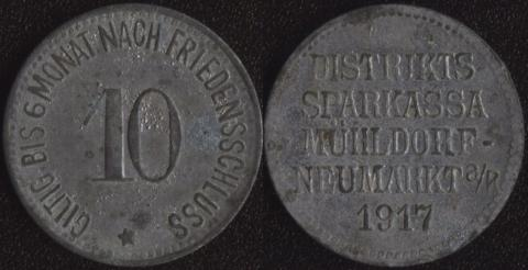 Мюльдорф-Ноймаркт 10 пфеннигов 1917