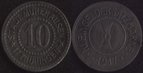 Мюльхаузен 10 пфеннигов 1917