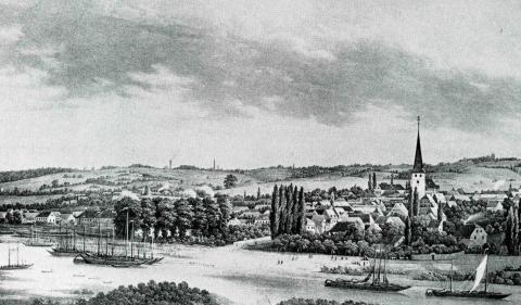 Вид на город Мюльхайм-ан-де-Рур