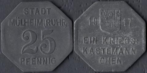 Мюльхайм 25 пфеннигов 1917