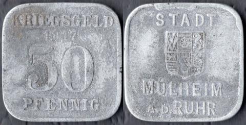 Мюльхайм 50 пфеннигов 1917