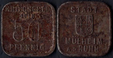 Мюльхайм 50 пфеннигов 1918