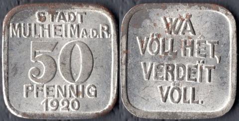 Мюльхайм 50 пфеннигов 1920