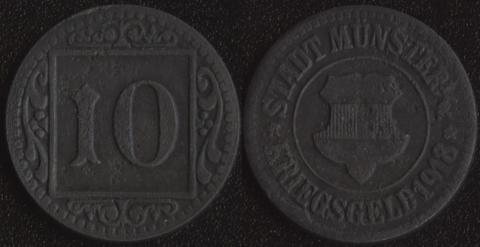 Мюнстер 10 пфеннигов 1918