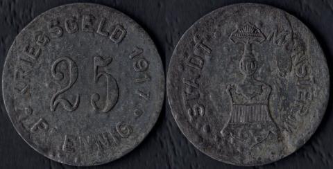 Мюнстер 25 пфеннигов 1917