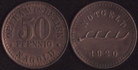 Нагольд 50 пфеннигов 1920