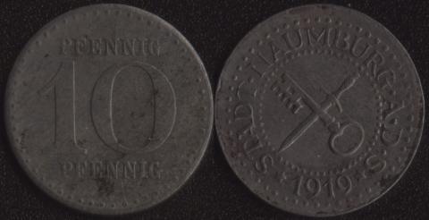 Наумбург 10 пфеннигов 1919