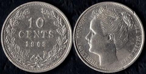 Нидерланды 10 центов 1903