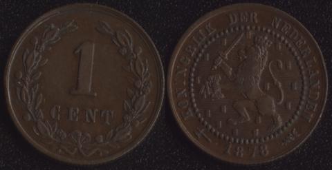 Нидерланды 1 цент 1878