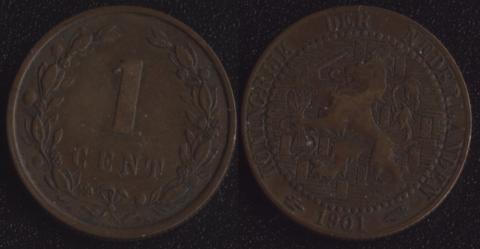 Нидерланды 1 цент 1901 (1)