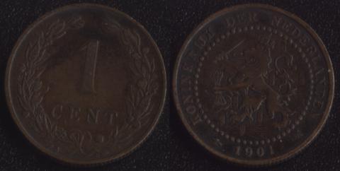 Нидерланды 1 цент 1901 (2)