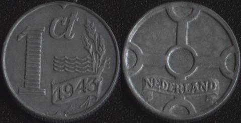 Нидерланды 1 цент 1943