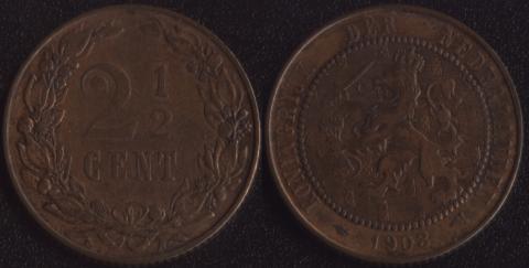 Нидерланды 2-1/2 гульдена 1903