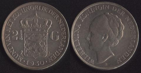 Нидерланды 2-1/2 гульдена 1930
