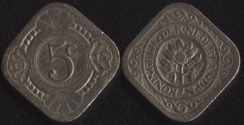 Нидерланды 5 центов 1914