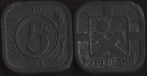 Нидерланды 5 центов 1941