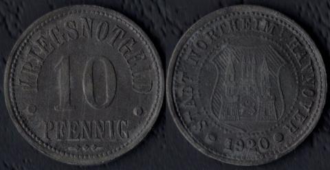 Нортхейм 10 пфеннигов 1920