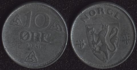 Норвегия 10 оре 1941