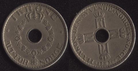 Норвегия 1 крона 1936
