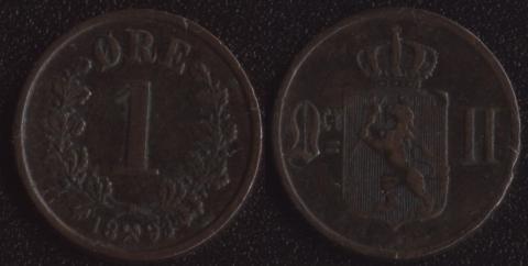 Норвегия 1 оре 1893