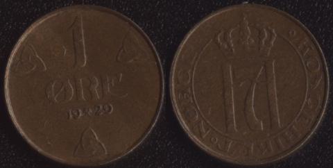 Норвегия 1 оре 1929
