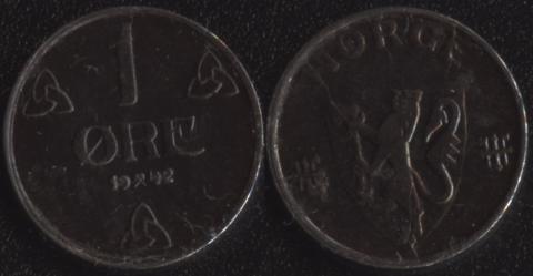 Норвегия 1 оре 1942