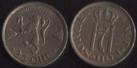 Норвегия 25 оре 1921