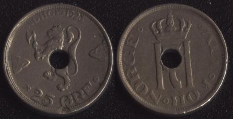 Норвегия 25 оре 1923