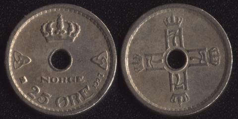 Норвегия 25 оре 1927