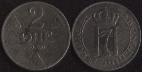 Норвегия 2 оре 1920