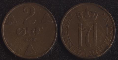 Норвегия 2 оре 1928