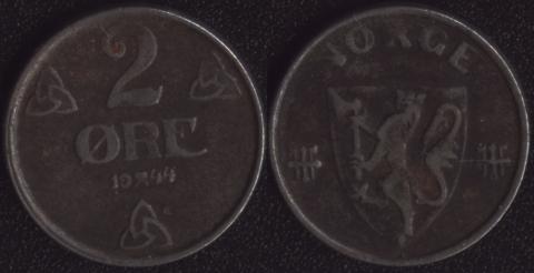 Норвегия 2 оре 1944