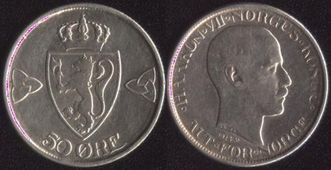 Норвегия 50 оре 1918