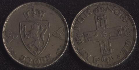 Норвегия 50 оре 1922
