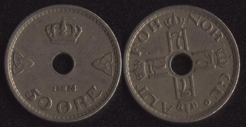 Норвегия 50 оре 1928