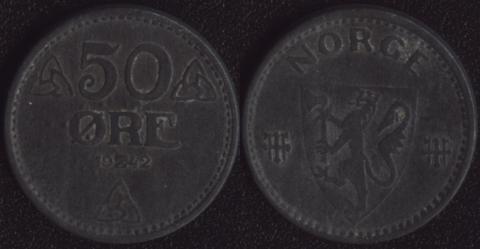 Норвегия 50 оре 1942