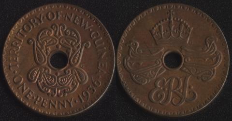 Новая Гвинея 1 пенни 1936