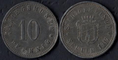 Ной-Ульм 10 пфеннигов 1917